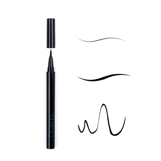Felt Tip Adhesive Eyeliner Pen  This Amazing Pen will make your strip lash application a game changer!  This D'Modern liquid adhesive liner acts as a dual purpose high drama felt tip pen. It  draws a high-pigment, flawless line. Features a super-fine felt tip for precise application.  The D'Felt adhesive tip liner is great for a cat eye, or just for giving an extreme thick line for more Drama!  Dermatologically approved, opthalmologically approved.  How To Use: Draw liner across upper and lower lash lines, starting from the outer corner of eye. For high impact, apply slightly heavier at the outer corners. Hold eyeliner horizontally for even and precise application.  All products are Paraben-free, Fragrance Free. Latex Free
