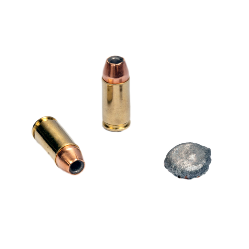 9mm Luger +P 90 gr. JHP  (50-count box)