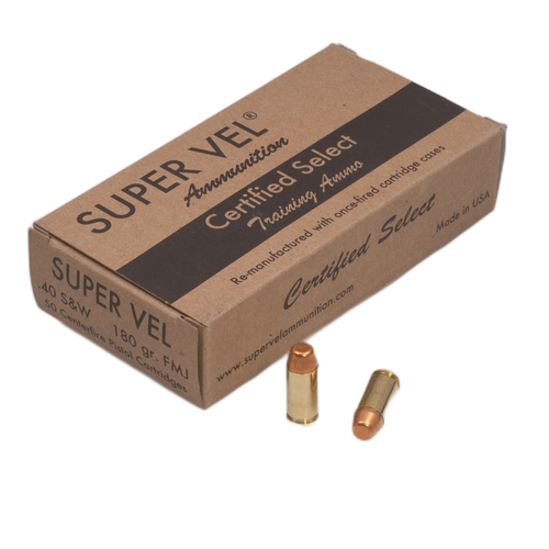 """.40 S&W 180 gr. FMJ """"Certified Select""""  (50-count box)"""