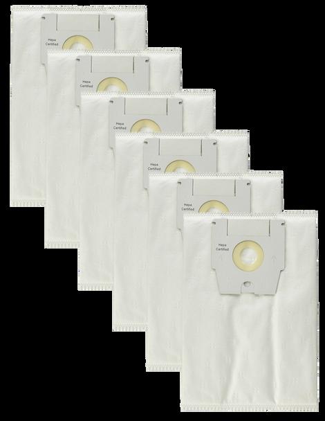6-Pack Premium HEPA-Style Vacuum Cleaner Bags Type H for Simplicity Riccar Bank