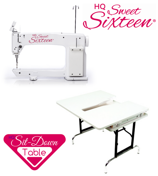 Handi Quilter Sweet Sixteen 16-Inch Long Arm Quilting Machine + Sit-Down Table Package