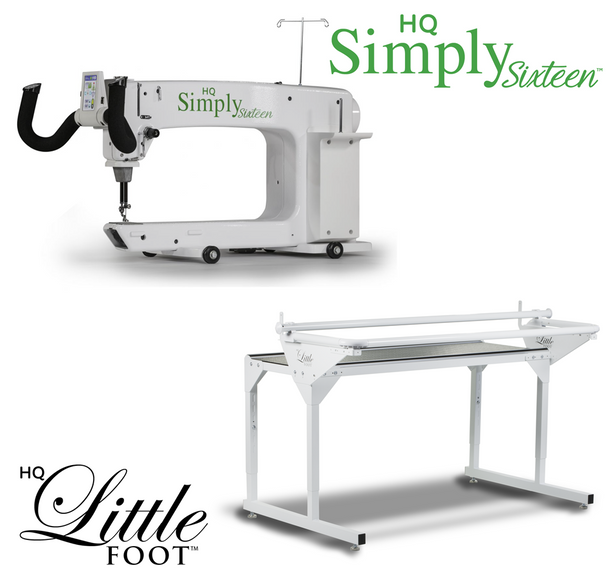 Handi Quilter Simply Sixteen 16-Inch Long Arm Quilting Machine + 5-Foot Little Foot Frame w/Precision-Glide Wheels Package