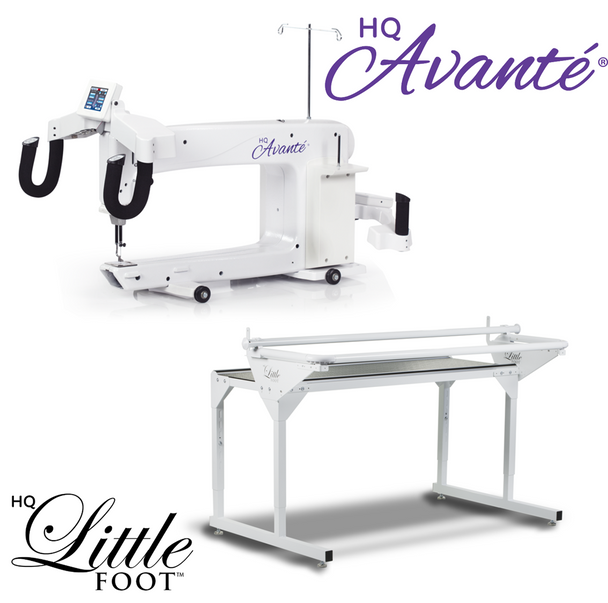 Handi Quilter Avante 18-Inch Long Arm Quilting Machine + 5-Foot Little Foot Frame w/Precision-Glide Wheels Package