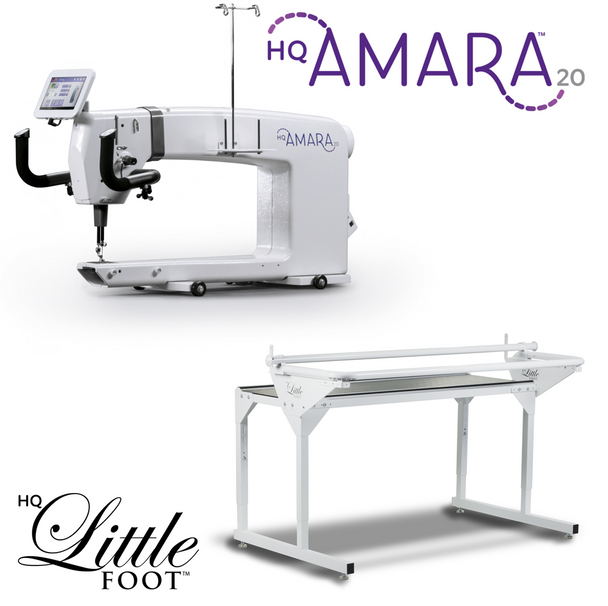 Handi Quilter Amara 20-Inch Long Arm Quilting Machine + 5-Foot Little Foot Frame w/Precision-Glide Wheels Package