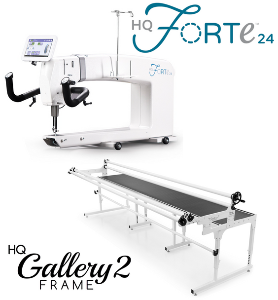 Handi Quilter Forte 24-Inch Long Arm Quilting Machine + 10-Foot Gallery2 Frame w/Precision-Glide Wheels Package