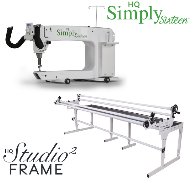 Handi Quilter Simply Sixteen 16-Inch Long Arm Quilting Machine + 12-Foot Studio2 Frame w/Precision-Glide Wheels Package