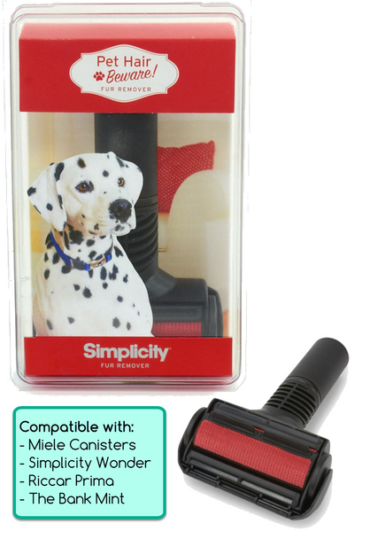 Simplicity Pet Hair Beware Fur Remover Tool for Miele, Simplicity Wonder, Riccar Prima Canister Vacuum Cleaners