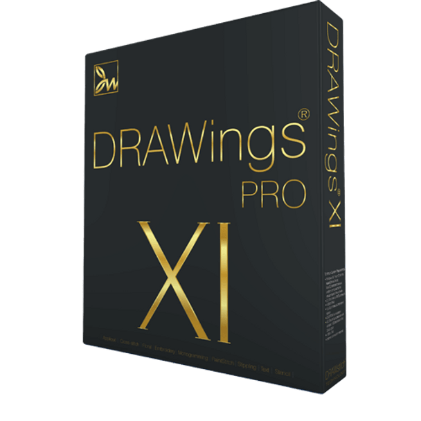 DRAWings PRO XI Embroidery Digitizing and More Software