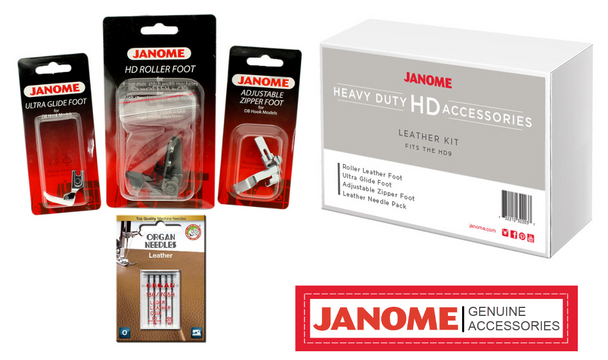 Janome Leather Heavy Duty High Shank Accessory Kit