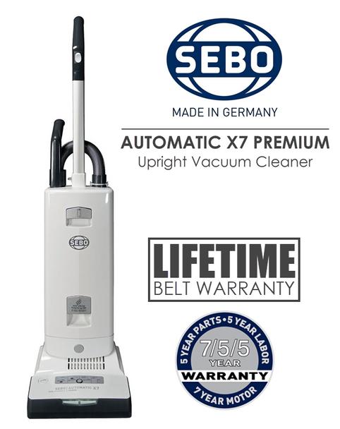 SEBO Automatic X7 Premium BOOST Upright Vacuum Cleaner | 91542AM Arctic White