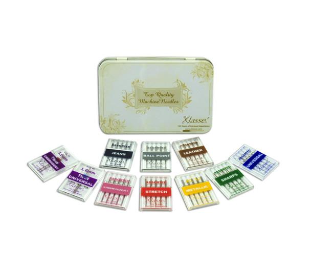 Sewing Machine Specialty Needle Starter Kit w/ Storage Tin