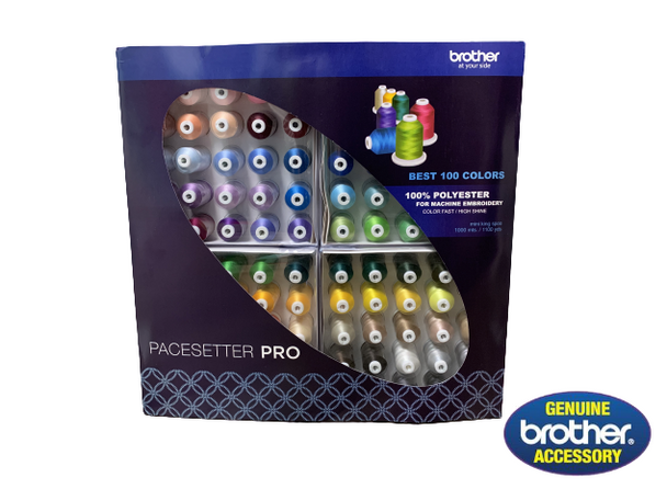 Brother Pacesetter Pro 100-Spool Embroidery Thread Set   ETPBEST100