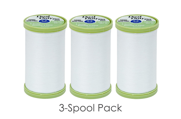 Coats Dual Duty Plus Hand Quilting Thread 3-Spool Pack | S960-0100 White