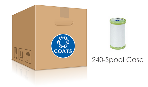 Coats Dual Duty Plus Hand Quilting Thread 240-Spool Case   S960-0100 White