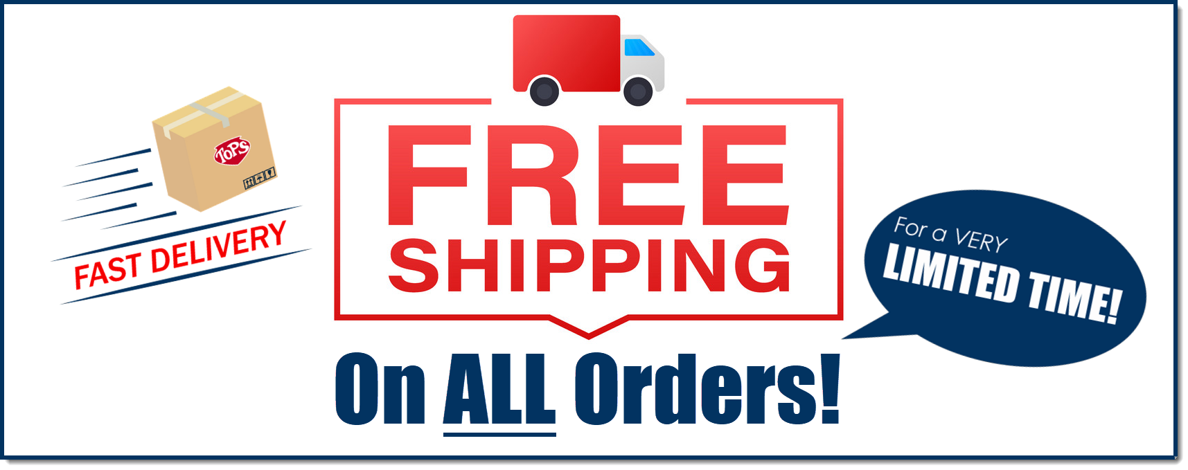 Fast and FREE Shipping on Everything!