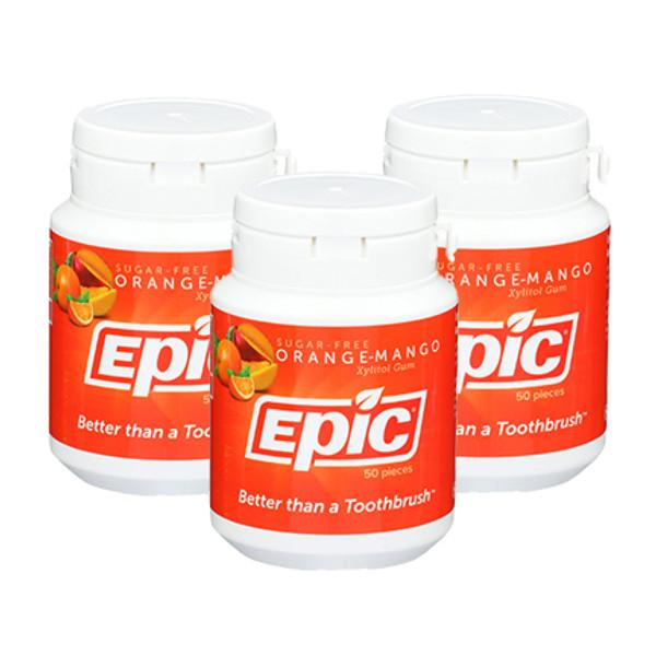 Orange Mango Gum - 50 Piece Bottles - 3 Pack