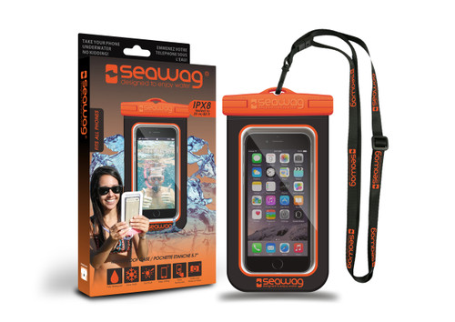 Seawag Waterproof Case For Smartphone Black/Orange