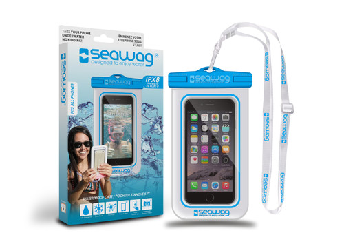 Seawag Waterproof Case For Smartphone White/Blue
