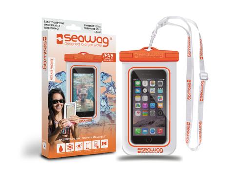 Seawag Waterproof Case For Smartphone White/Orange