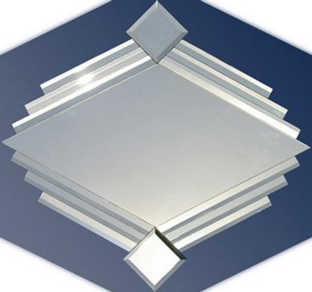 Diamond Classic Art Decor Diamond Shaped Mirror Print Decor Art Mirrors Frames