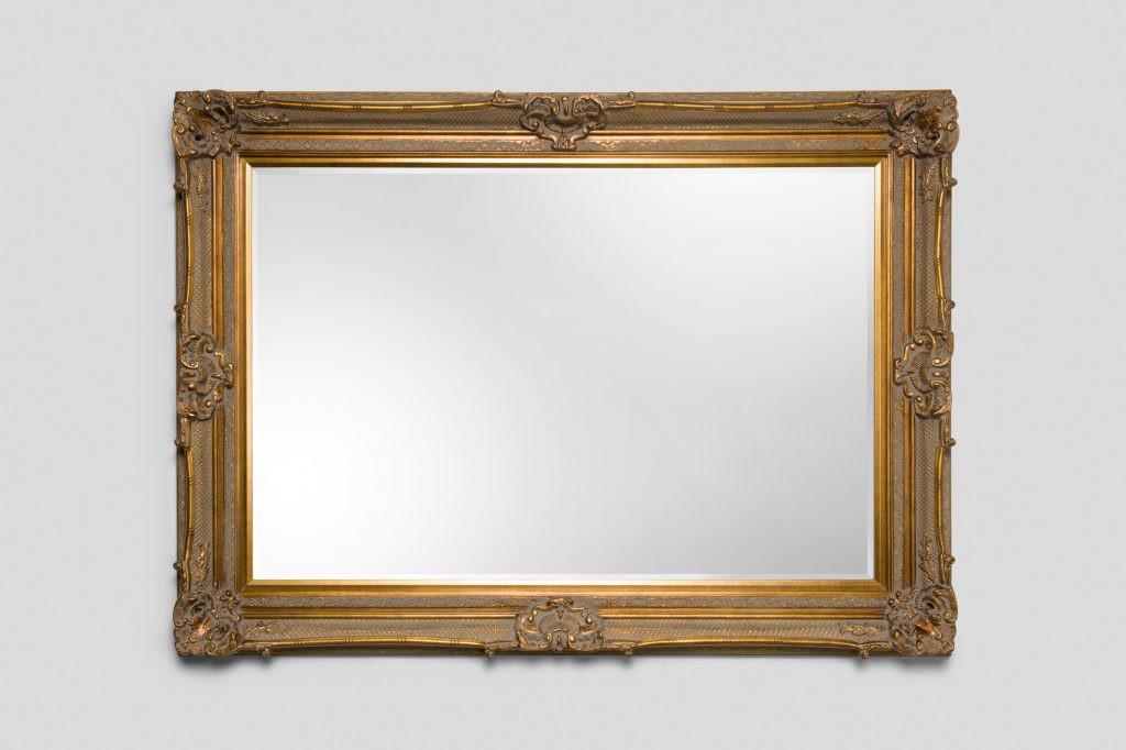 Grand Ornate Gold Mirror