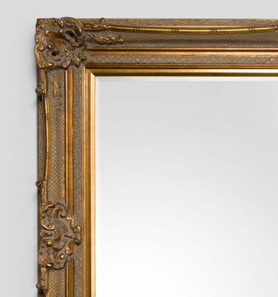 Grand Ornate Gold Mirror