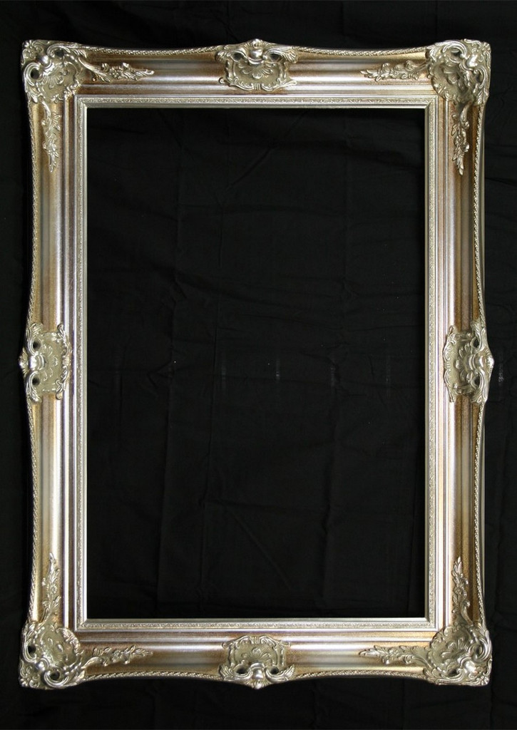 Classic Antique Ornate Victorian Mirror Silver Print