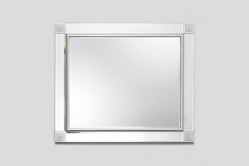 Silver Medallion Mirror