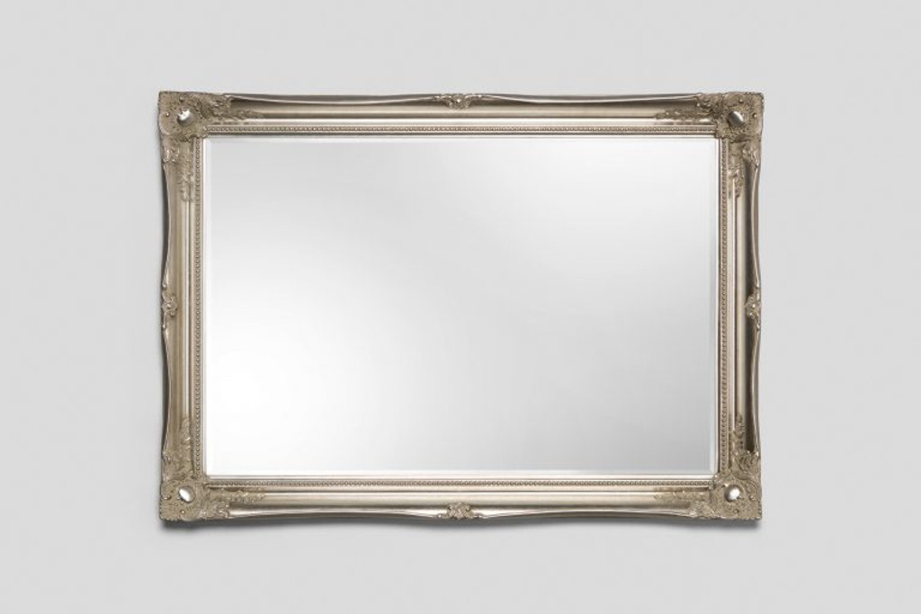 Contessa Silver Framed Bevelled Mirror