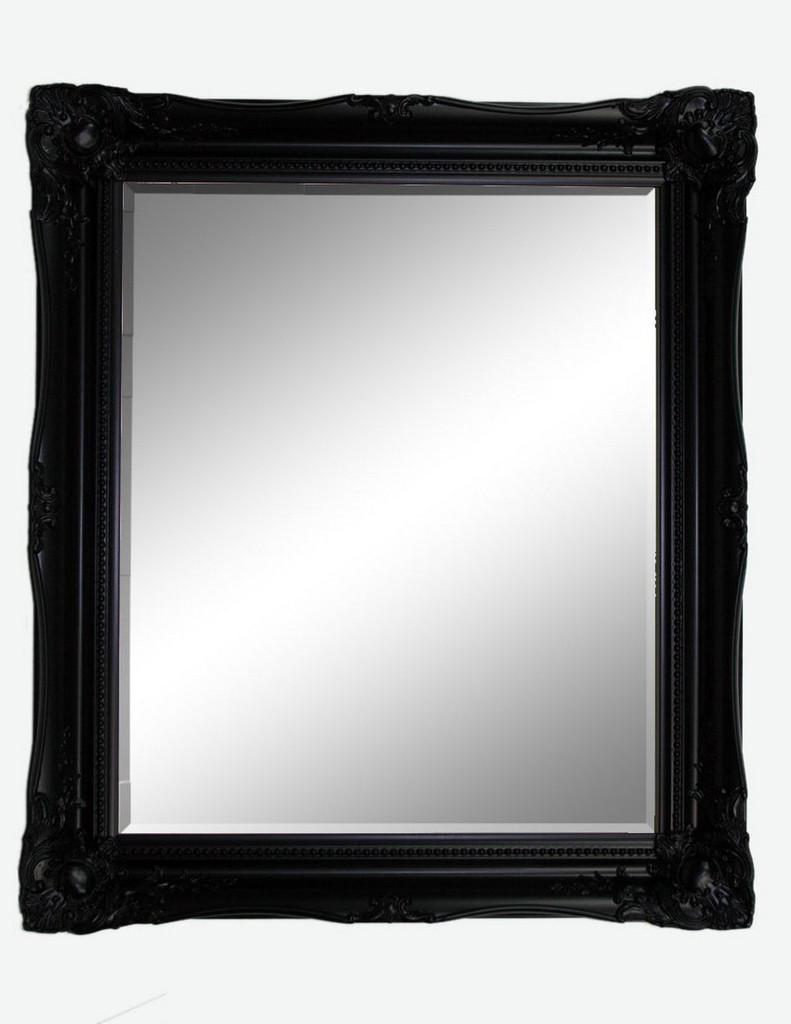 Print Décor - Contessa Black Beveled Mirror