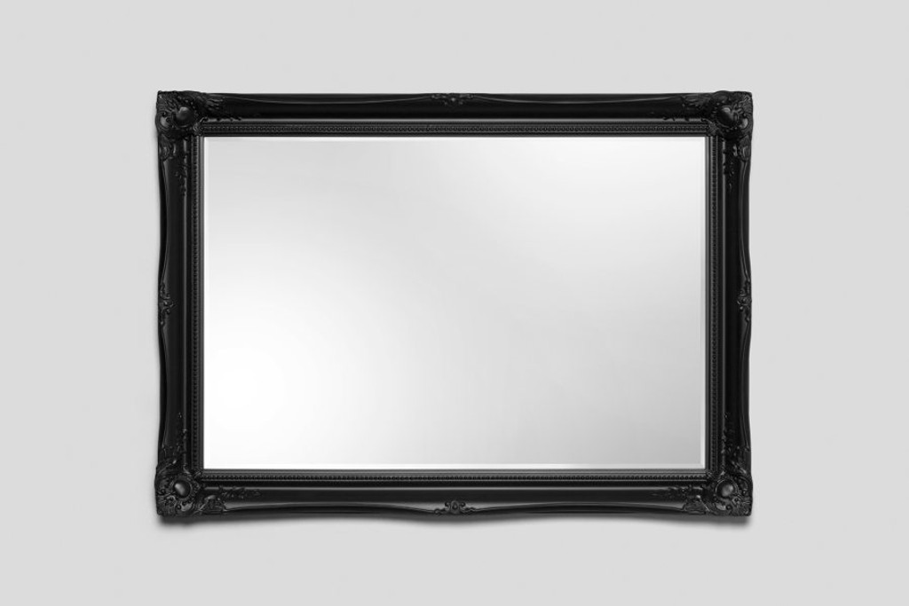 Contessa Black Ornate Modern Framed Bevelled Mirror Print Decor Art Mirrors Frames
