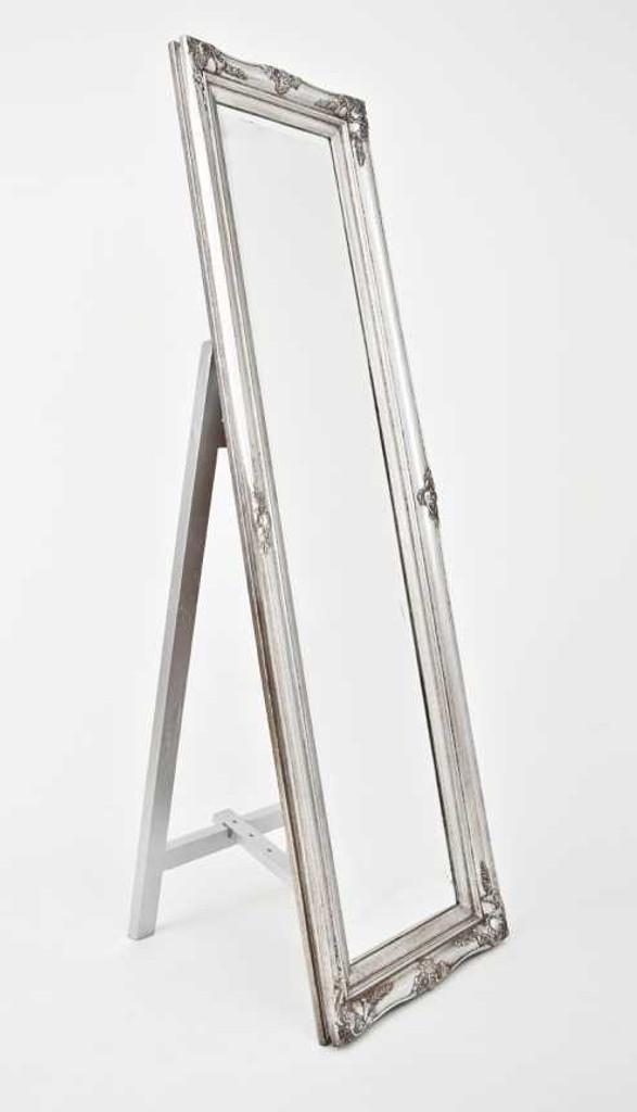 Print Decor Princess free standing silver frame mirror