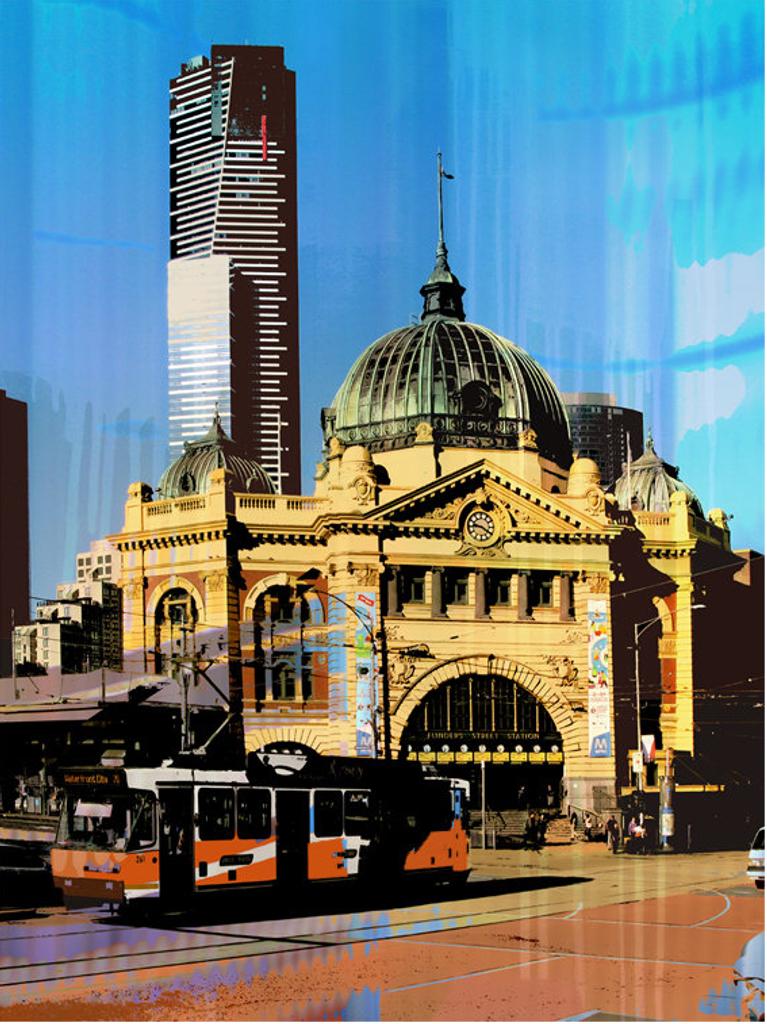 Jan Neil | Flinders Street Station & Tram