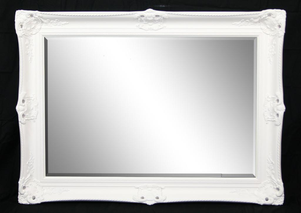 Ornate Mirrors White Victorian Mirror