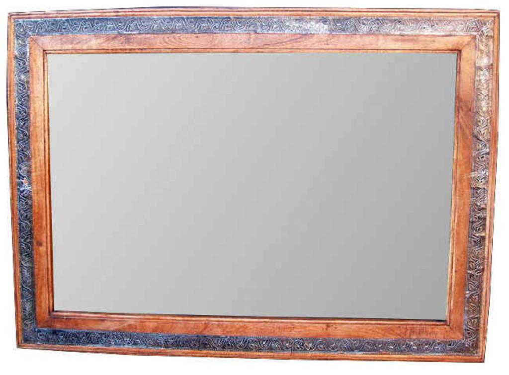 Mango Wood with Metallic Embellishment Strip | Print Decor