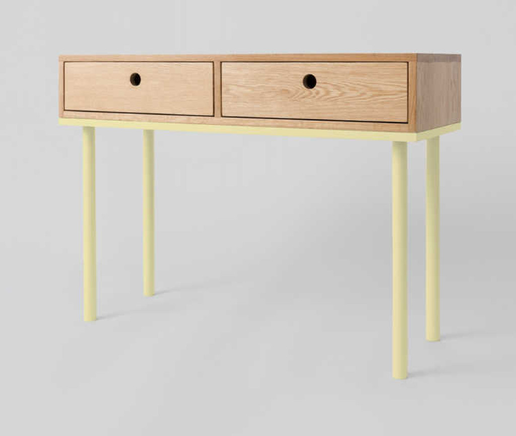 MODERN FURNITURE | ZAC CONSOLE: LEMON | PRINT DECOR | SIDE VIEW
