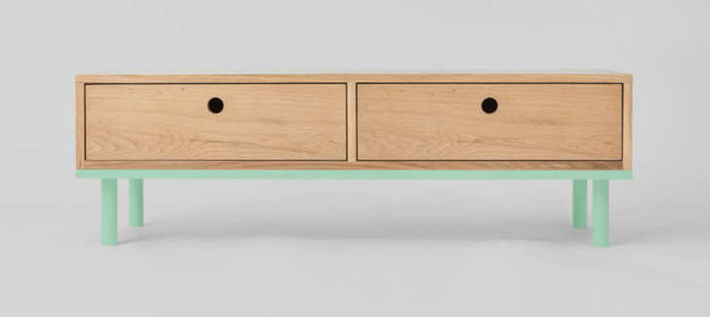 MODERN FURNITURE | ZAC CONSOLE: MINT | PRINT DECOR | FRONT VIEW