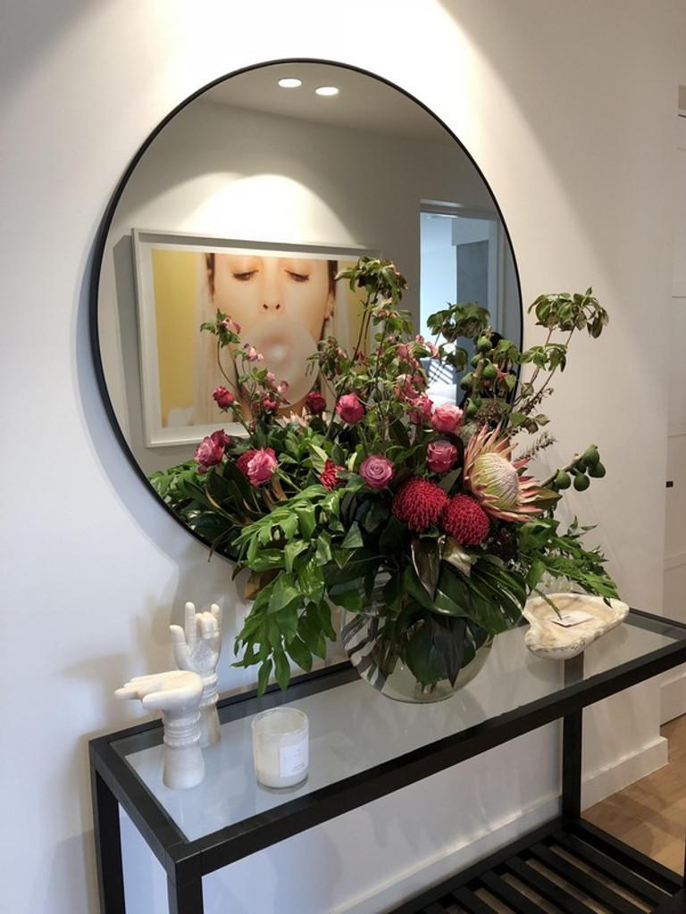 Modern Circular Mirror, in hallway