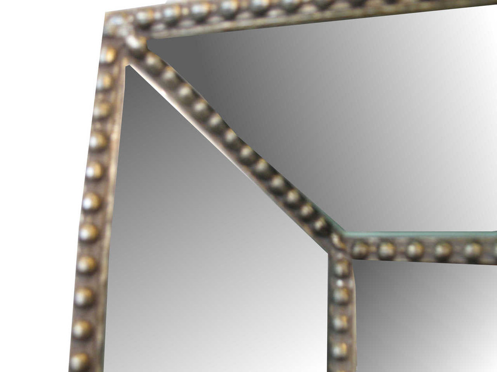 Print Decor | Beaded Angle Champagne Mirror | Detail