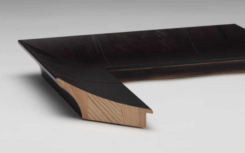 Olive Veneer Black Timber | Print Decor | Side View