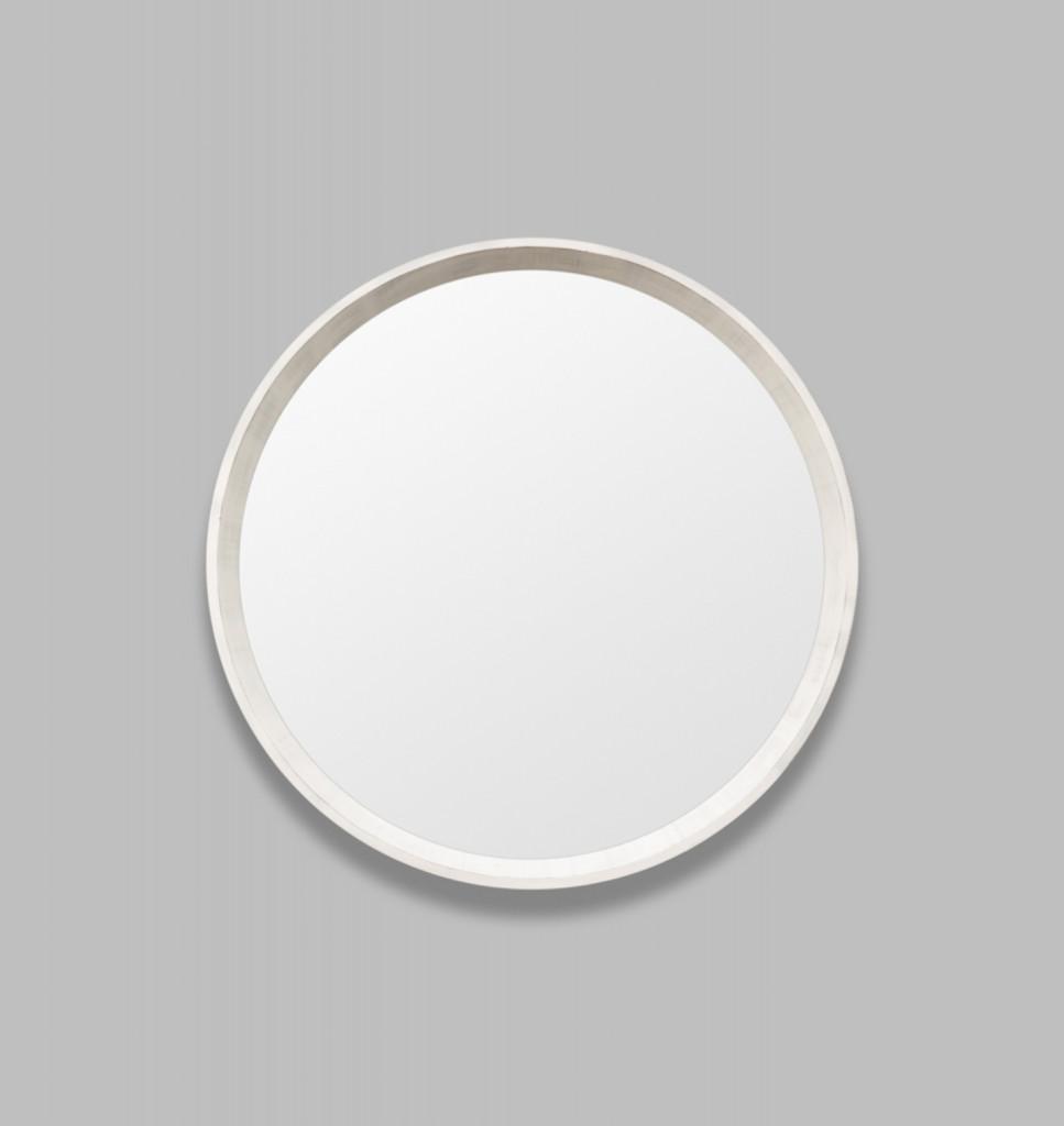 Round White Mirror Coastal | Print Decor