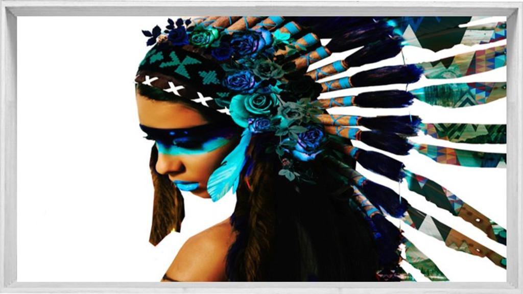 Modern White Frame | Princess Warrior | Print Decor, Melbourne