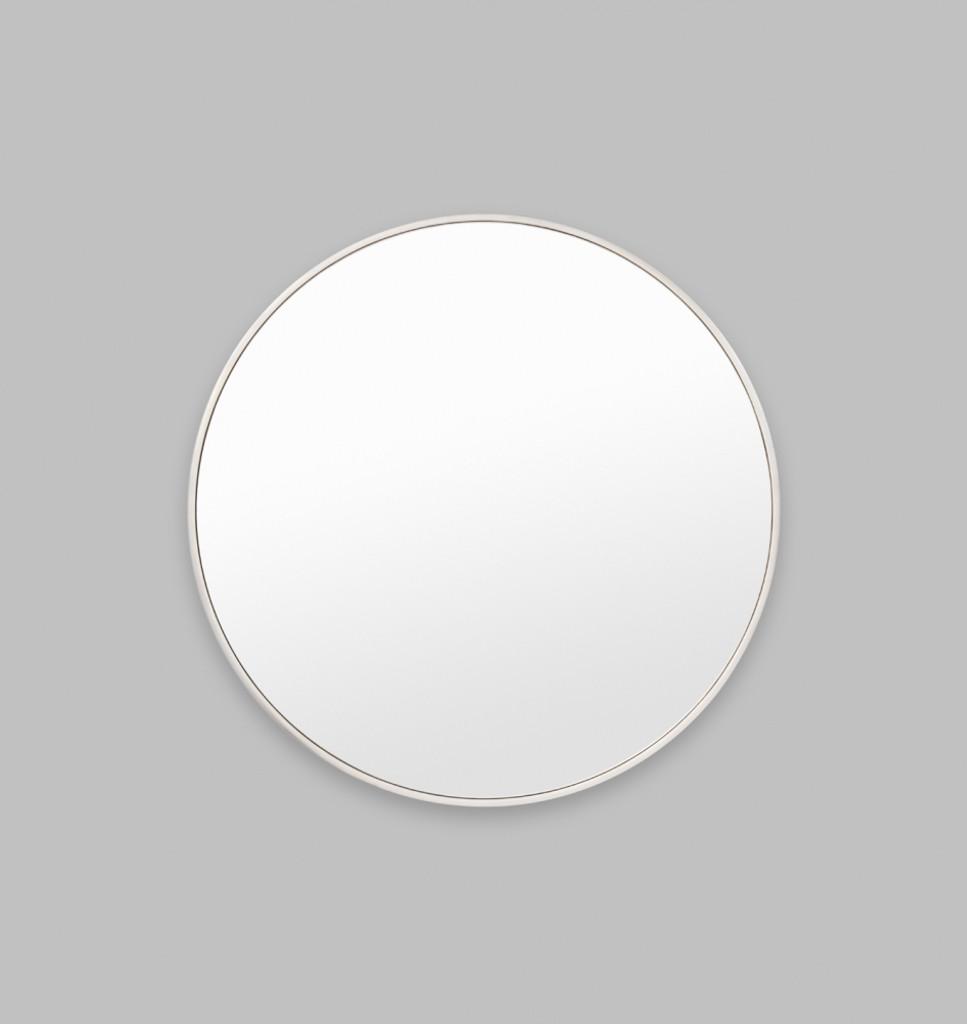 Modern Round Silver Mirror