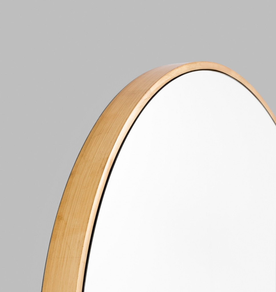 Modern Round Brass Mirror | Detail