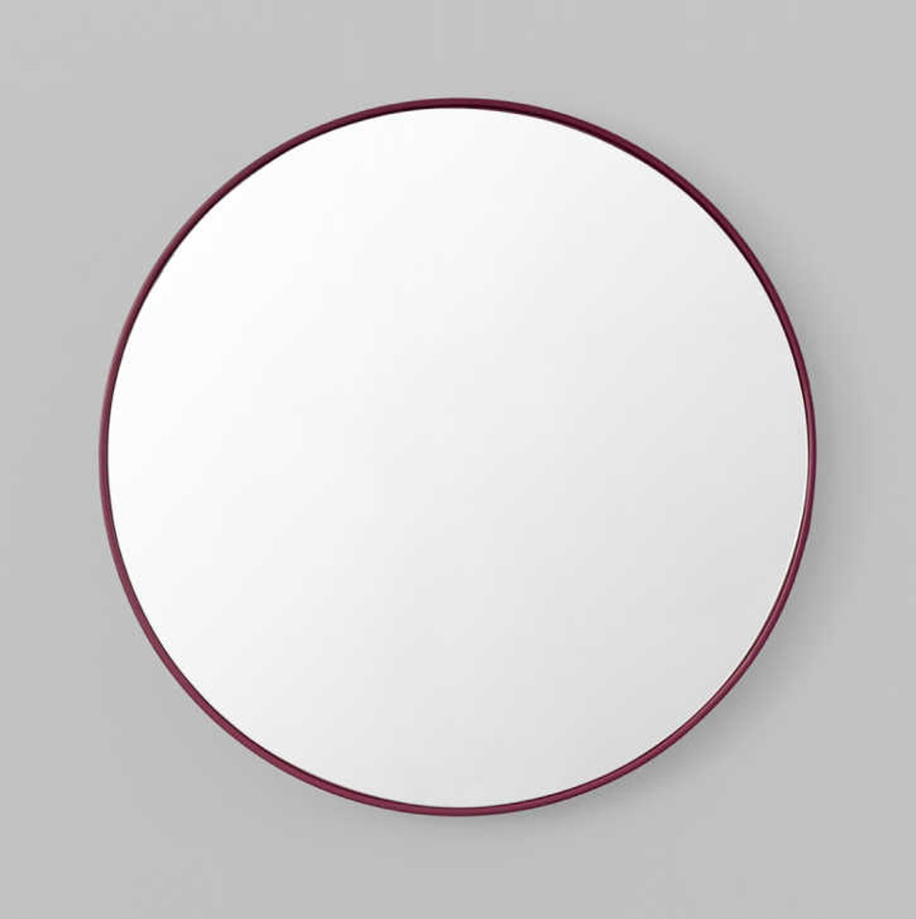 Print Decor | Modern Circular Mirror | Deep Plum