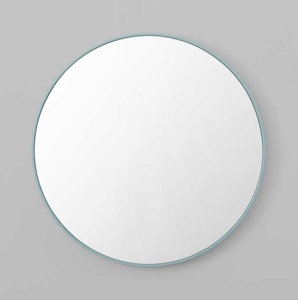 Print Decor | Modern Circular Mirror | Dusty Blue