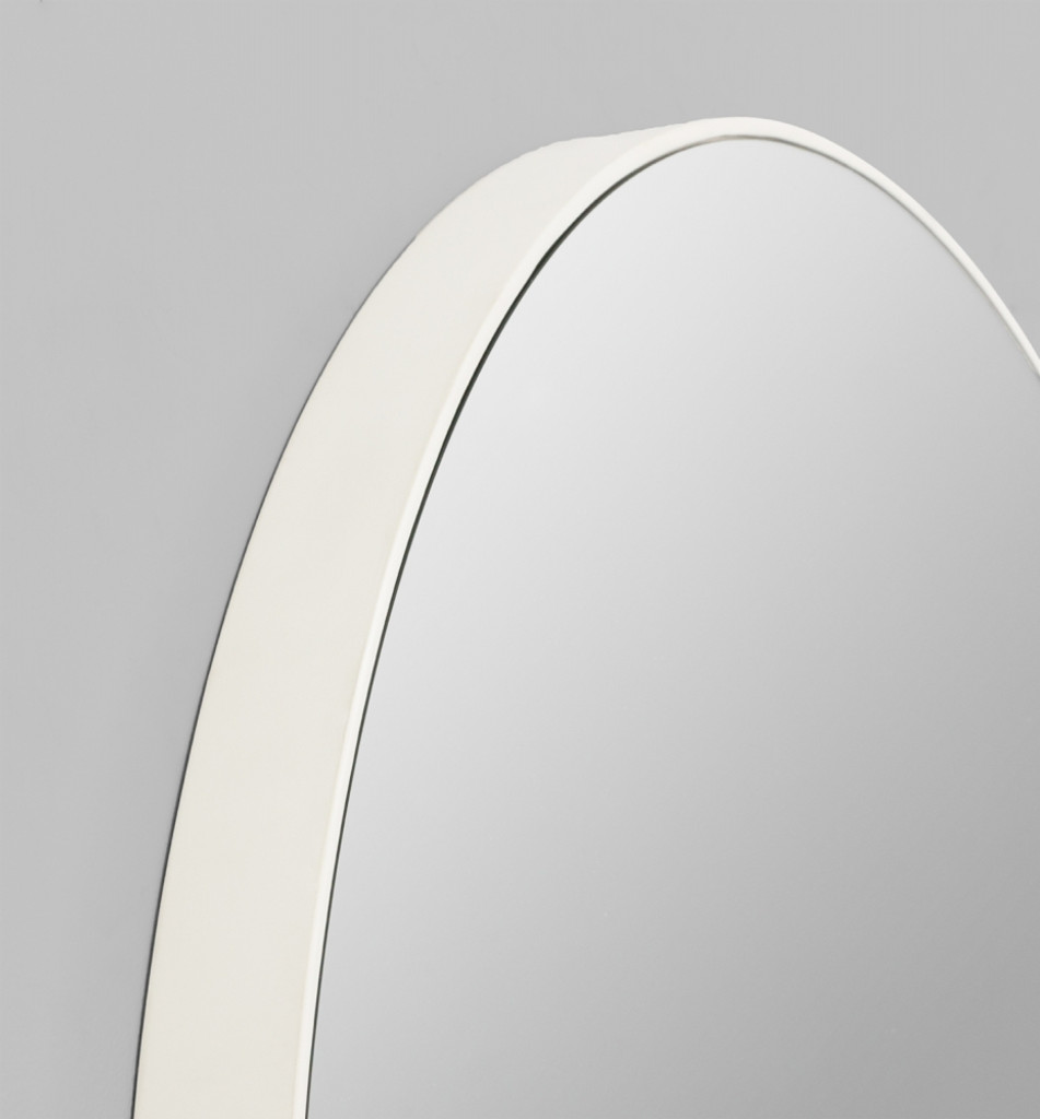 Print Decor | Modern Circular Mirror | White | Detail