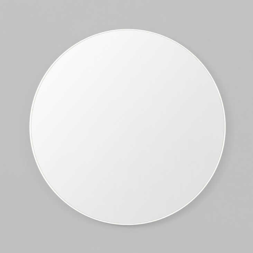 Print Decor | Modern Circular Mirror | White