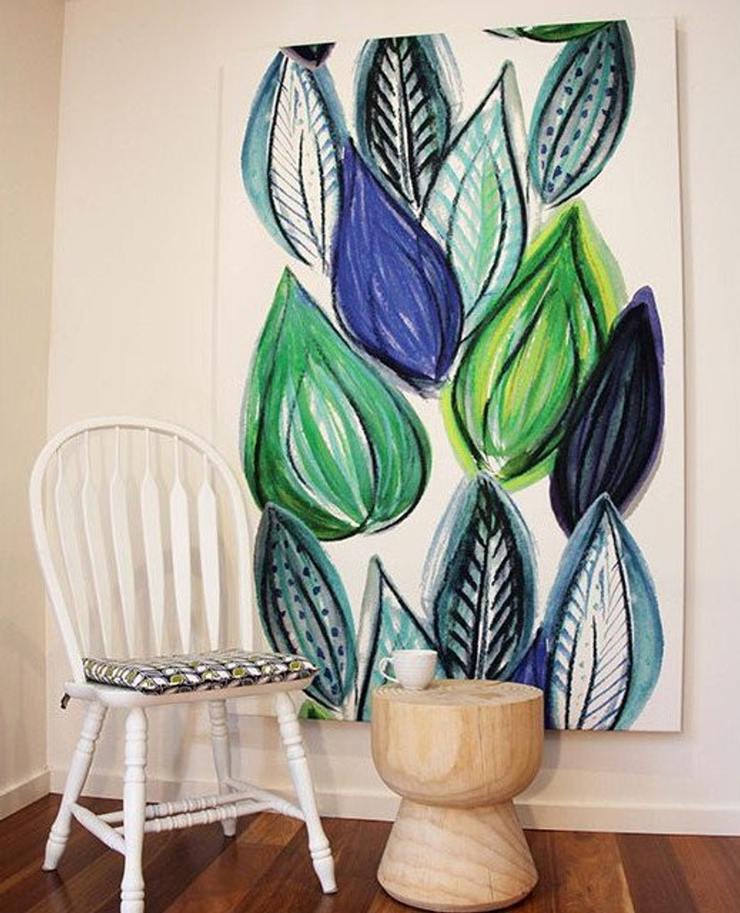 Scandinavian designed fabric art,  Frutti Blue | In Situ