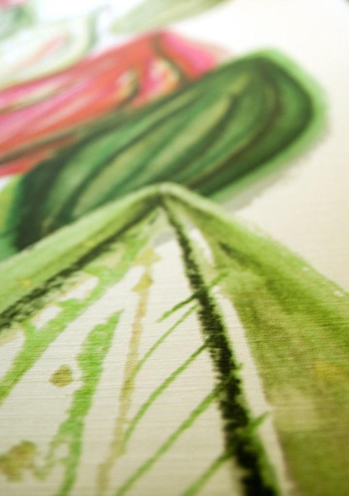 Scandinavian designed fabric art,  Frutti Pink   Detail
